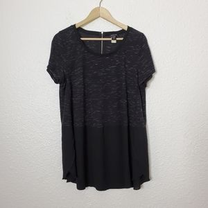 Torrid Speckled Chiffon Contrast Tunic Tee Size 0X